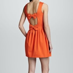 Red Valentino Double Bow Back Mini Dress
